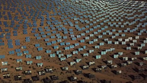 Drone-aerial-over-a-vast-solar-power-generating-facility-at-Primm-Nevada-6