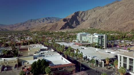 Drone-aerial-establishing-shot-of-Palm-Springs-California-4