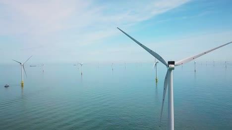 Remarkable-drone-aerial-over-windmills-and-turbines-in-the-ocean-off-the-coast-of-England-1