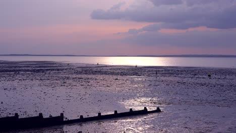 Good-establishing-shot-of-Whitstable-Bay-Kent-England-todal-area-on-the-Thames-Estuary