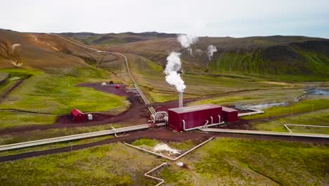 Drone-aerial-over-the-Krafla-geothermal-power-plant-in-Iceland-where-clean-electricity-is-generated-1