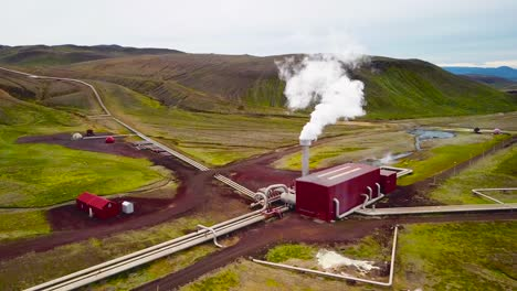 Drone-aerial-over-the-Krafla-geothermal-power-plant-in-Iceland-where-clean-electricity-is-generated-2