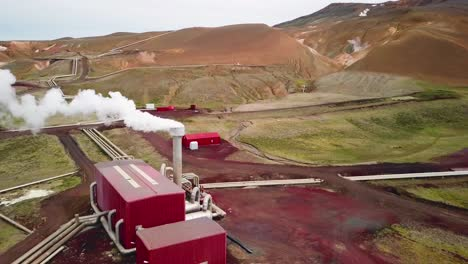 Drone-aerial-over-the-Krafla-geothermal-power-plant-in-Iceland-where-clean-electricity-is-generated-3