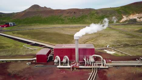 Drone-aerial-over-the-Krafla-geothermal-power-plant-in-Iceland-where-clean-electricity-is-generated-4