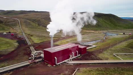 Drone-aerial-over-the-Krafla-geothermal-power-plant-in-Iceland-where-clean-electricity-is-generated-5