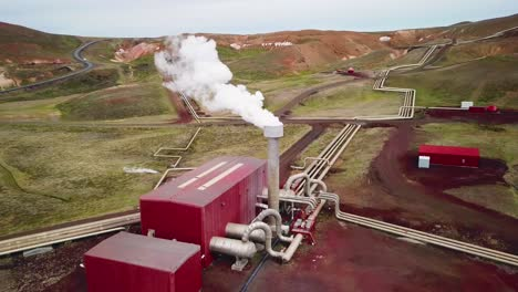 Drone-aerial-over-the-Krafla-geothermal-power-plant-in-Iceland-where-clean-electricity-is-generated-6