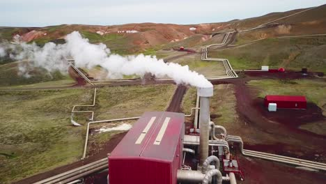 Drone-aerial-over-the-Krafla-geothermal-power-plant-in-Iceland-where-clean-electricity-is-generated-7