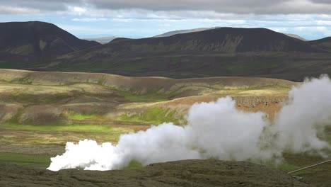 Smoke-from-a-geothermal-region-rises-in-Iceland