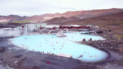An-aerial-over-a-public-thermal-bath-spa-in-Iceland-near-Myvatn-Editorial-use-only-1