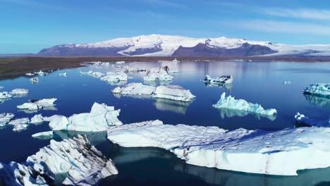 Beautiful-aerial-over-icebergs-in-the-Arctic-Jokulsarlon-glacier-lagoon-in-Iceland-2
