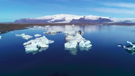 Beautiful-aerial-over-icebergs-in-the-Arctic-Jokulsarlon-glacier-lagoon-in-Iceland-4