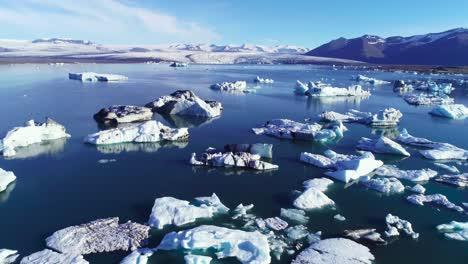 Beautiful-aerial-over-icebergs-in-the-Arctic-Jokulsarlon-glacier-lagoon-in-Iceland-6