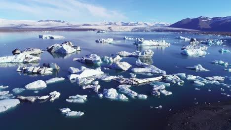 Beautiful-aerial-over-icebergs-in-the-Arctic-Jokulsarlon-glacier-lagoon-in-Iceland-7