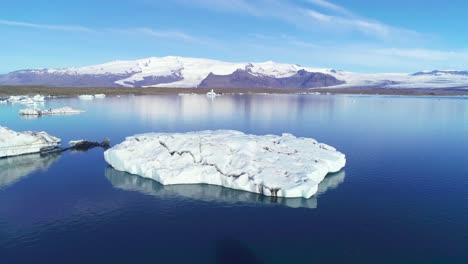 Beautiful-aerial-over-icebergs-in-the-Arctic-Jokulsarlon-glacier-lagoon-in-Iceland-16