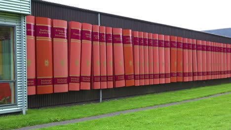 Ovegur-a-building-made-out-of-giant-books-is-found-in-the-north-of-Iceland