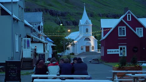 Diners-eat-and-drink-at-a-local-pub-in-Seydisfjordur-Iceland-2