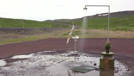 A-sink-and-shower-stand-outdoors-in-this-art-installation-near-Myvatn-Iceland