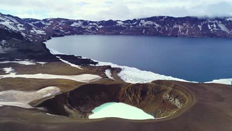 Beautiful-aerial-over-a-massive-caldera-in-the-Askja-region-of-Iceland-desolate-highlands-5