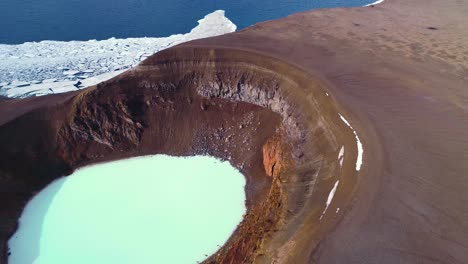 Beautiful-aerial-over-a-massive-caldera-in-the-Askja-region-of-Iceland-desolate-highlands-6