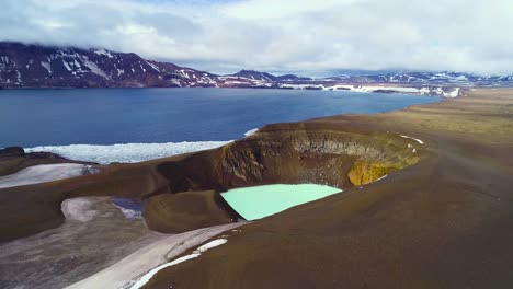 Beautiful-aerial-over-a-massive-caldera-in-the-Askja-region-of-Iceland-desolate-highlands-8
