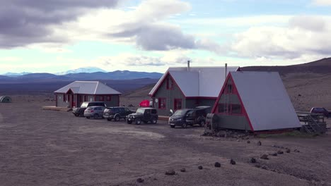 Remote-ranger-headquarters-park-camp-buildings-in-the-desolate-interior-of-Iceland