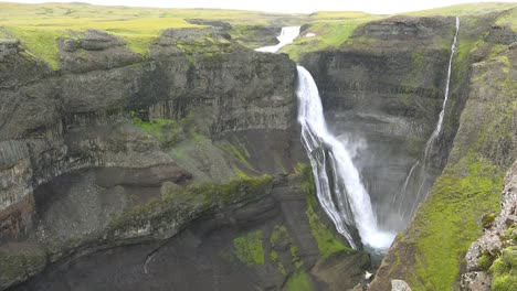 The-beautiful-and-amazing-high-waterfall-of-Haifoss-in-Iceland