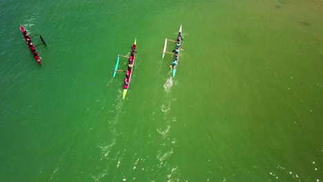 Aerial-over-outrigger-canoes-racing-in-a-rowing-race-on-the-Pacific-ocean-near-Ventura-California-5