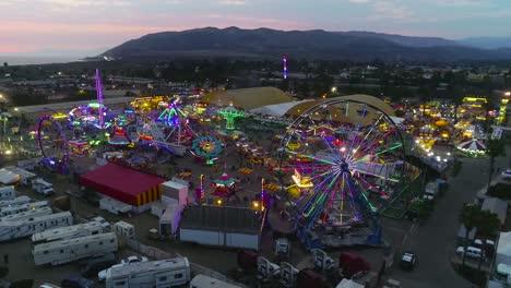 Sunset-aerial-over-a-large-county-fair-and-fair-grounds-with-ferris-wheel-Ventura-County-Fair-3
