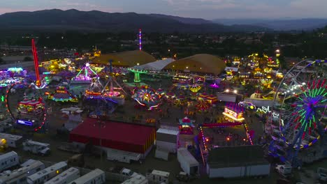 Sunset-aerial-over-a-large-county-fair-and-fair-grounds-with-ferris-wheel-Ventura-County-Fair-6