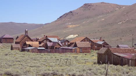 Establishing-shot-of-Bodie-California-gold-mining-gold-rush-ghost-town