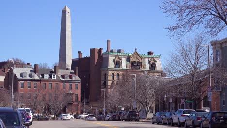 Establishing-shot-of-apartments-and-streets-on-Bunker-Hill-Boston-Massachusetts