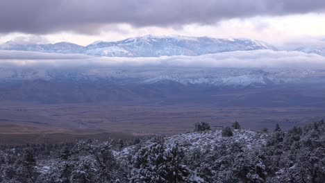 Time-lapse-beautiful-panoramic-shot-of-snow-covered-winter-mountains-in-the-Eastern-Sierra-Nevada-mountains-and-Mono-Lake-California-1