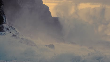 Extreme-slow-motion-of-beautiful-ocean-waves-crashing-into-Kaiaka-Rock-Molokai-Hawaii-4