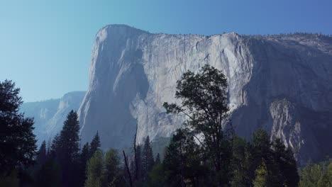 La-Nariz-De-El-Capitan-Una-De-Las-Escaladas-En-Roca-Grandes-Paredes-Grandes-Se-Eleva-Desde-El-Suelo-Del-Valle-De-Yosemite-Yosemite-Np-Ca