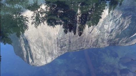 El-Capitan-one-of-rock-climbings-Great-Walls-reflected-in-the-quite-autumn-water-of-the-Merced-River-Yosemite-Valley-CA