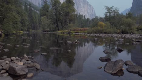 Vertical-pan-El-Capitan-Merced-River-Cathedral-Rocks-and-the-Yosemite-Valley-Yosemite-National-Park-California