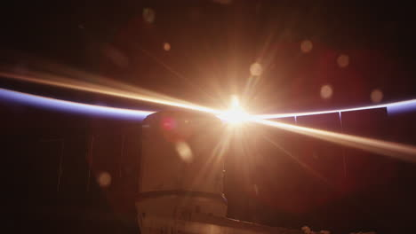 Sunrise-Behind-The-International-Space-Station