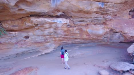 Aerial-moves-away-from-petroglyphs-and-cave-art-at-Hargeisa-Somalia-to-reveal-landscape