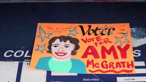 A-Volunteer-Mails-Homemade-Voter-Registration-Voting-Reminder-Postcards-Cards-For-Amy-Mcgrath-Prior-To-The-2020-Elections