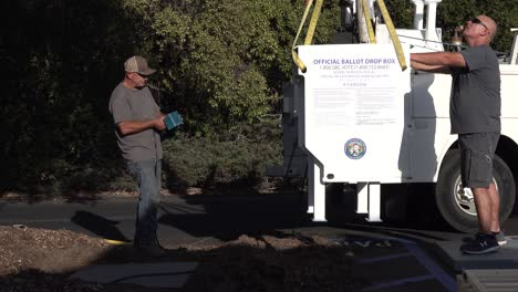 Secure-Ballot-Drop-Boxes-Drop-Off-Box-Is-Moved-Into-Position-By-Workers-In-Santa-Barbara-California-Prior-To-Us-Presidential-Elections-3
