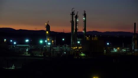 Establishing-shots-of-an-oil-refinery-at-night-1