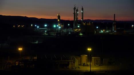Establishing-shots-of-an-oil-refinery-at-night-4