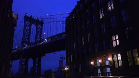 A-nice-view-of-a-Brooklyn-New-York-street-with-the-Bridge-background-and-apartments-foreground-3