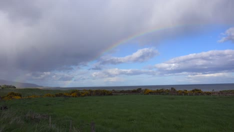 Rainbows-form-in-the-sky-of-Northern-Scotland