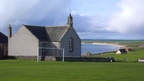 A-pretty-church-along-the-abandoned-coastline-of-Northern-Scotland