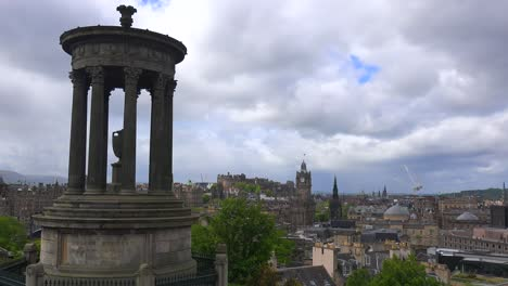 A-beautiful-time-lapse-shot-of-clouds-over-the-Edinburgh-Scotland-skyline-1