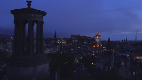 An-establishing-shot-of-Edinburgh-Scotland-at-night-1