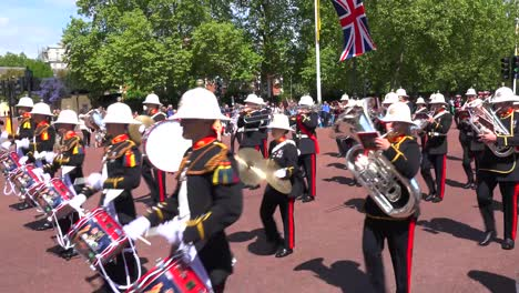 British-army-veterans-march-in-a-ceremonial-parade-down-the-Mall-in-London-England
