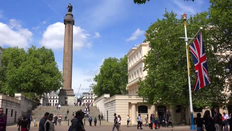 An-establishing-shot-of-Trafalgar-Square-London-England-on-a-sunny-day-1