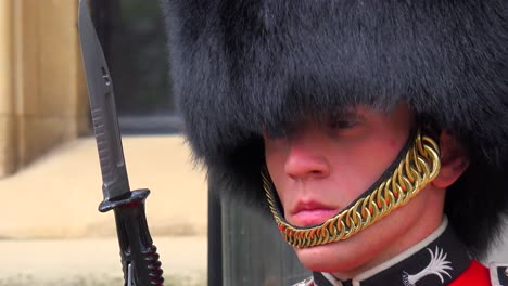 A-Beefeater-guard-at-a-palace-in-London-England